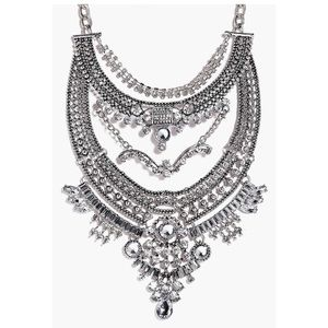 Maisie Boutique Statement Diamante Necklace
